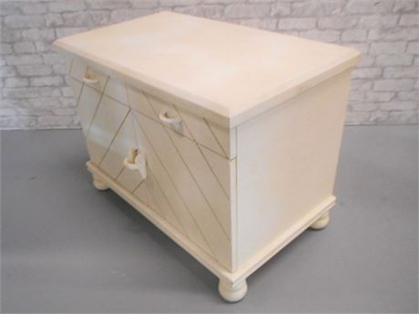 STUCCO LIKE TEXTURED NIGHTSTAND