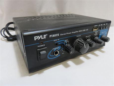 PYLE PTAU23 40W x 2 Mini Stereo Power Amplifier with USB