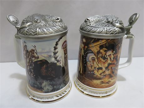 Warriors Of The Plains Tankards - Hamilton Collection