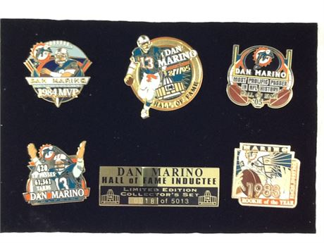 Dan Marino Hall of Fame Inductee Pin Set