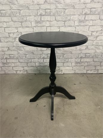 Black Round Occasional Table