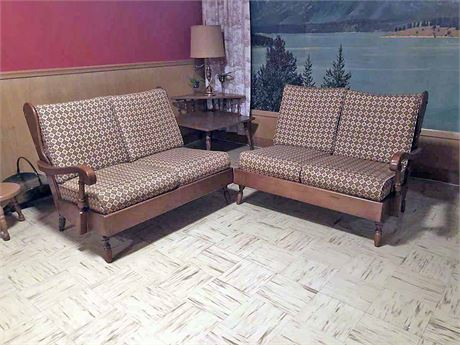 Mid Century Two Piece Couch