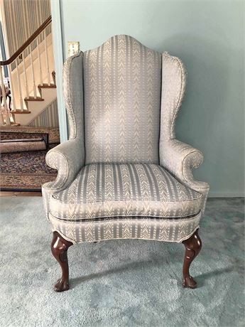 Hickory Wing Back Chair