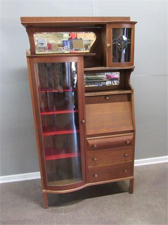 Antique Side by Side Drop-Front Secretary Desk
