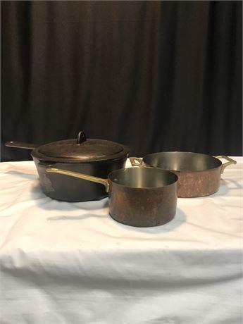 Vintage 1801 Copper Paul Revere Pans