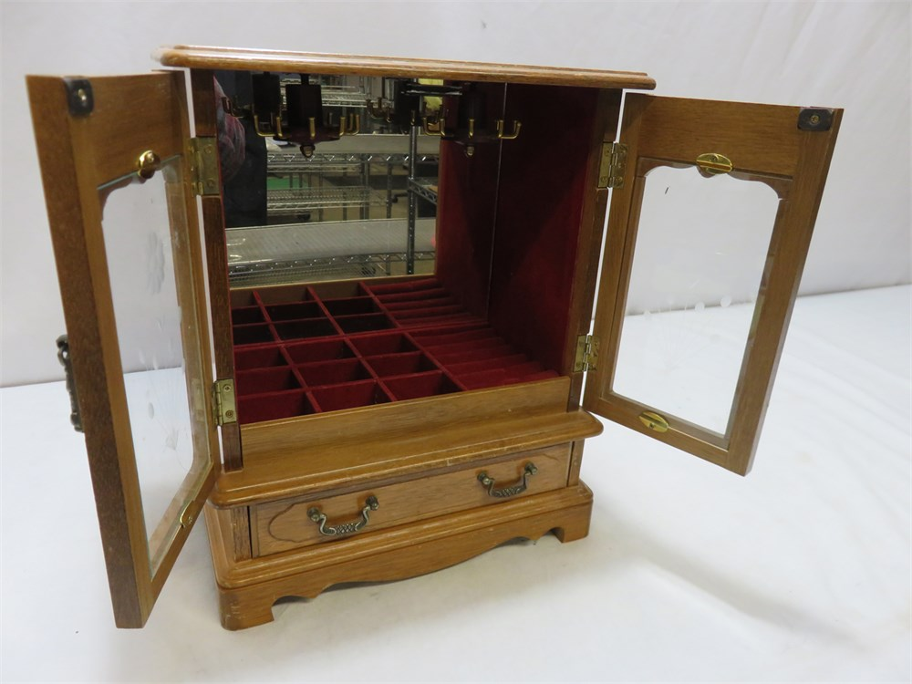 Transitional Design Online Auctions - Tabletop Jewelry Armoire