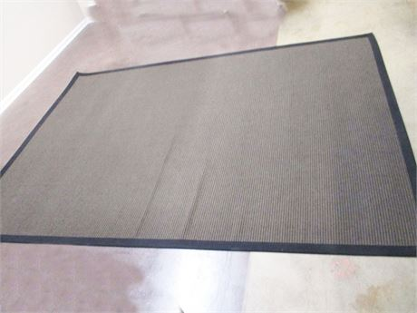 "BLACK AND TAN NEW ZEALAND WOOL RUG (7'6"" X 10'10"")"