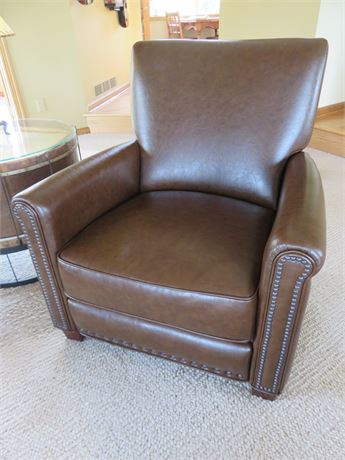 POTTERY BARN Chocolate Leather Recliner