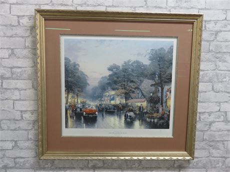 THOMAS KINKADE Limited Edition DELORES STREET Lithograph