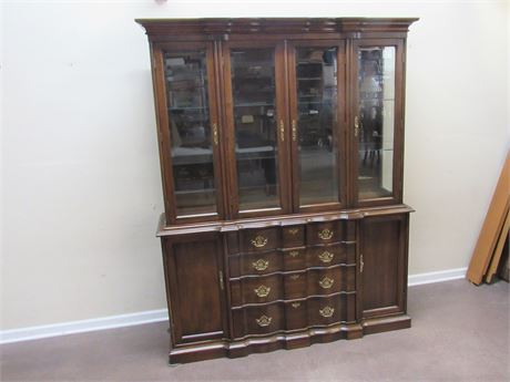 FRANK S. HARDEN CO. SERPENTINE FRONT CHINA HUTCH