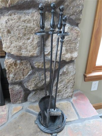 3-Piece Iron Fireplace Tool Set