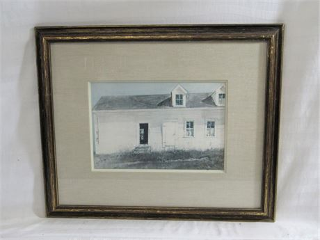Vintage Andrew Wyeth Framed and Matted Print -  Open Shed