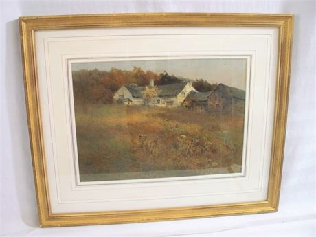 VINTAGE SIGNED ORIGINAL WATERCOLOR BY A. (ARTHUR) TUCKER