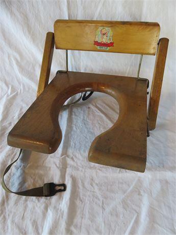 Vintage 1930s HAMILTON Wooden Potty Seat