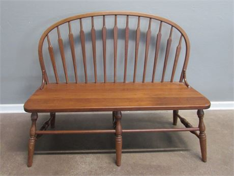 Cherry Arrow Spindle-back Bench