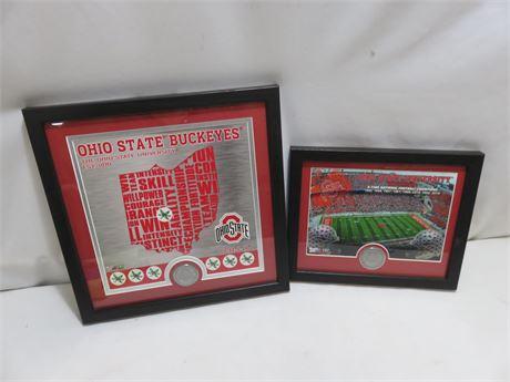 OHIO STATE BUCKEYES Commemorative Framed Prints