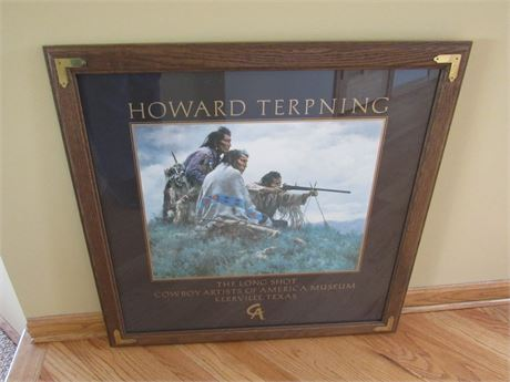 Framed and Matted Howard Terpning Museum Print - The Long Shot