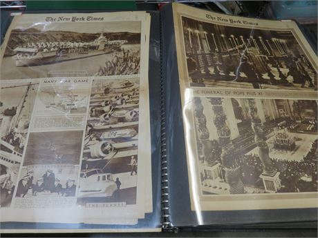Vintage 1938-1940 New York Times Sunday Rotogravure Picture Pages Portfolio