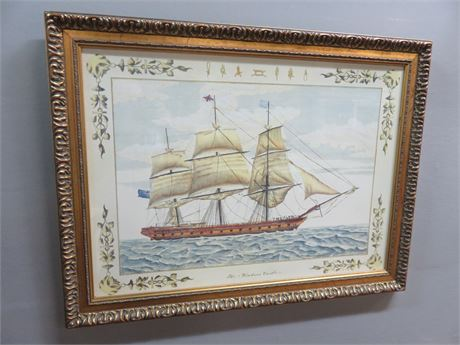 """The Windsor Castle"" Clipper Ship Lithograph Print"