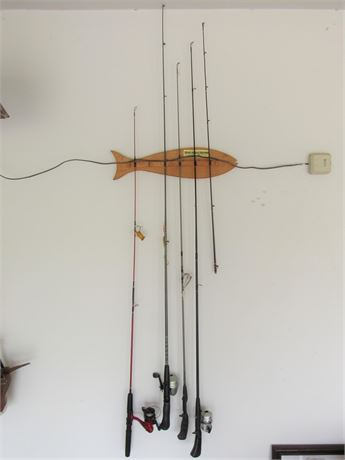4 Fishing Rods with 3 Reels
