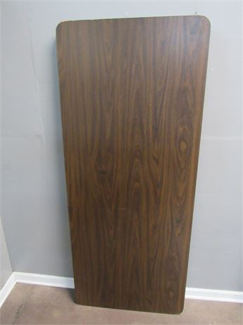 Banquet Table with Faux Wood Grain Laminate Top