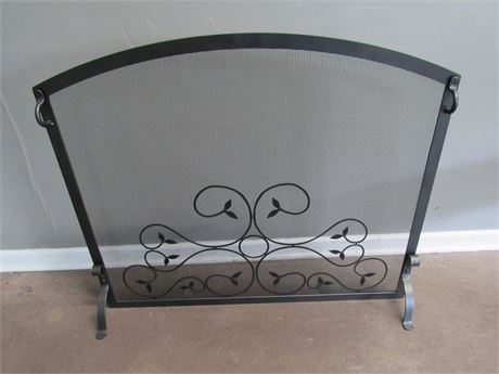 Wrought Iron and Metal Fireplace Screen