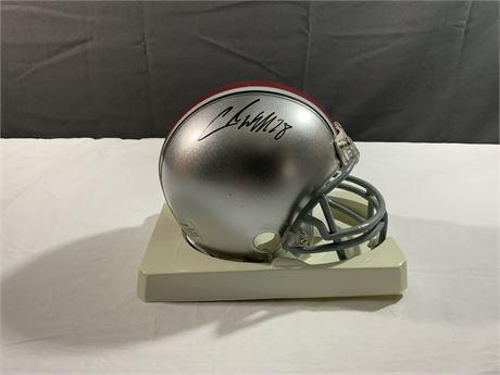 "Chris ""Beanie"" Wells Ohio State AUTOGRAPH Riddell Mini Helmet"