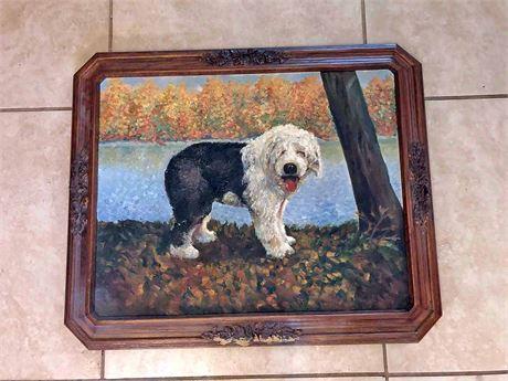 Original Sheep Dog Oil On Canvas