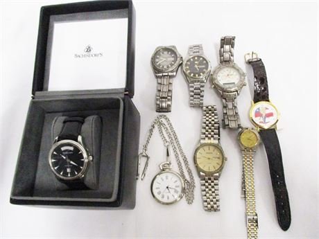 LOT OF WATCHES FEATURING BACHENDORF'S