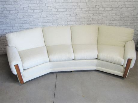Curved Sofa on Casters