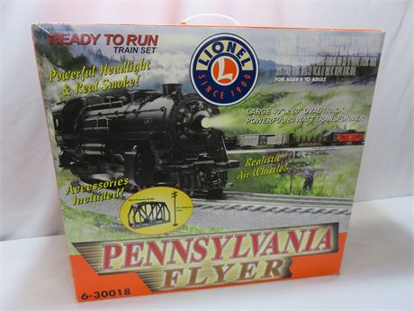 Brand New LIONEL Pennsylvania Flyer Train Set Model #6-30018