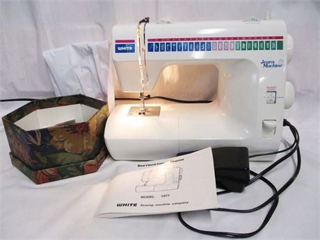"HEAVY DUTY WHITE ""JEANS MACHINE"" SEWING MACHINE"