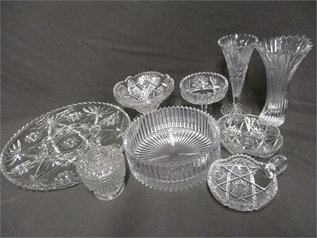 LOT OF CUT GLASS AND CRYSTAL FEATURING MIKASA