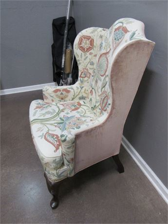 Desirable Mary Webb Wood Woodmark Originals 1976 Crewel Tree Of Life Side Chair