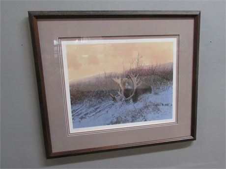FRAMED MATTED SIGNED & NUMBERED (#958/1200) WINTERS ARRIVAL BY MICHAEL COLEMAN