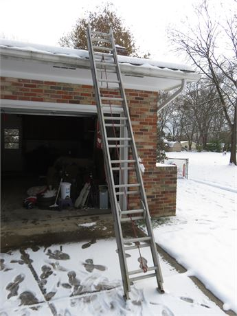 WERNER Saf-T-Master 24 Ft. Aluminum Extension Ladder