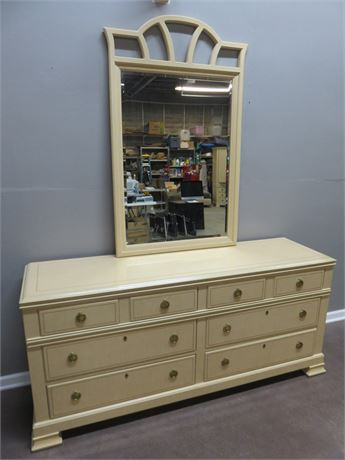 DREXEL HERITAGE Status Collection Dresser with Mirror
