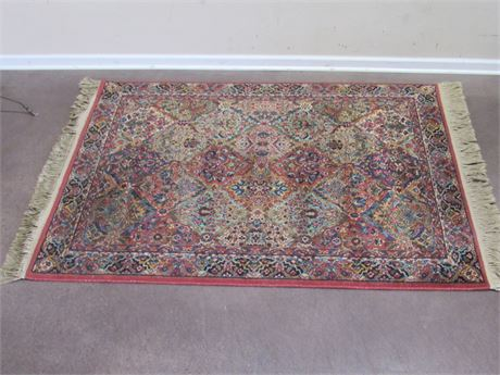 KIRMAN KARASTAN MULTI-COLOR PANEL 100% WOOL RUG