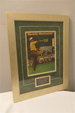 Cover of Sports Illustrated Autographed by Jack Nicklaus