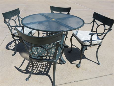 Cast Metal Patio Set