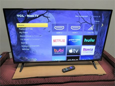 """TCL 40"""" LED Flat Panel ROKU TV with Remote"""
