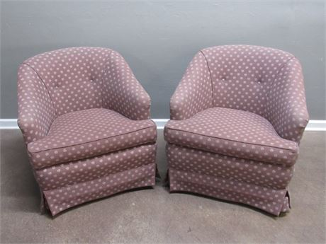 2 Rose Interiors Upholstered Occasional Chairs