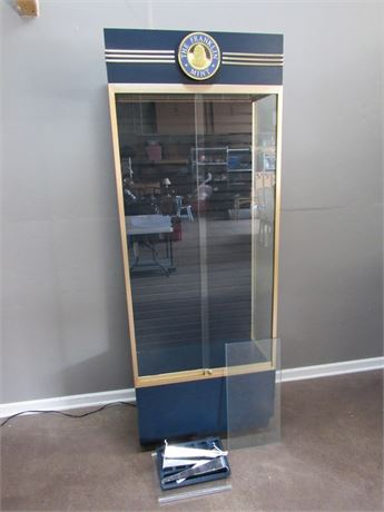 Nice Franklin Mint Display Cabinet with Locking Glass Doors