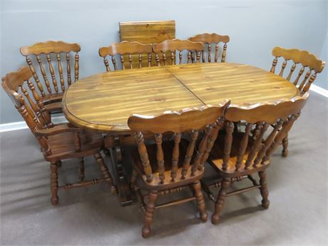 Colonial Trestle Dining Table Set