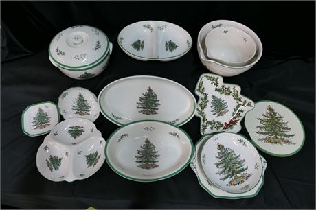 """Spode Service Ware """"Christmas Tree"""" Collection"""