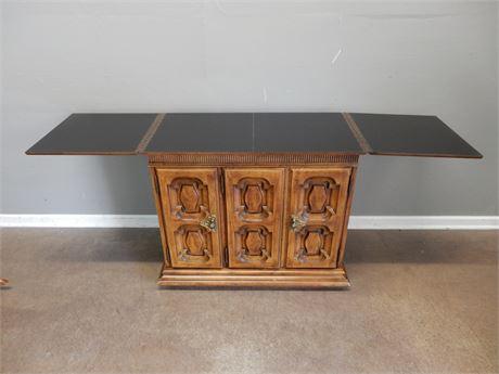 Vintage Extending Wood Buffet Cabinet