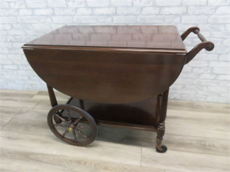 Ethan Allen English Dropleaf Tea Cart
