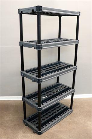 "Heavy Duty 18"" Work Shelf Unit with 5 shelves."