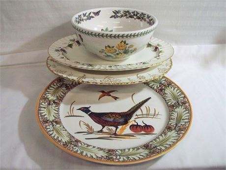 4 PIECE MISC. POTTERY/CHINA SERVING LOT