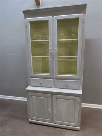 Painted/Rustic Finished Hitchcock Chair Co. Hutch